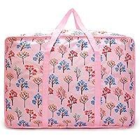 大型ストレージバッグピンクの木のパターンポータブル高品質の旅行の主催者防水性防湿オックスフォード布の布団のキルトの衣類移動仕上げ荷物の収納袋 (サイズ さいず : 50 * 20 * 40cm)