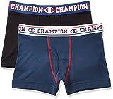 (チャンピオン)Champion ボーイズ ボクサーブリーフ 2枚組 CB6-H702 096 ブラック×ネイビー 160