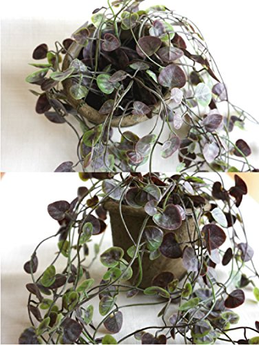 ミニグリーン・ベゴニアポットハンギング 【造花】【CT触媒】
