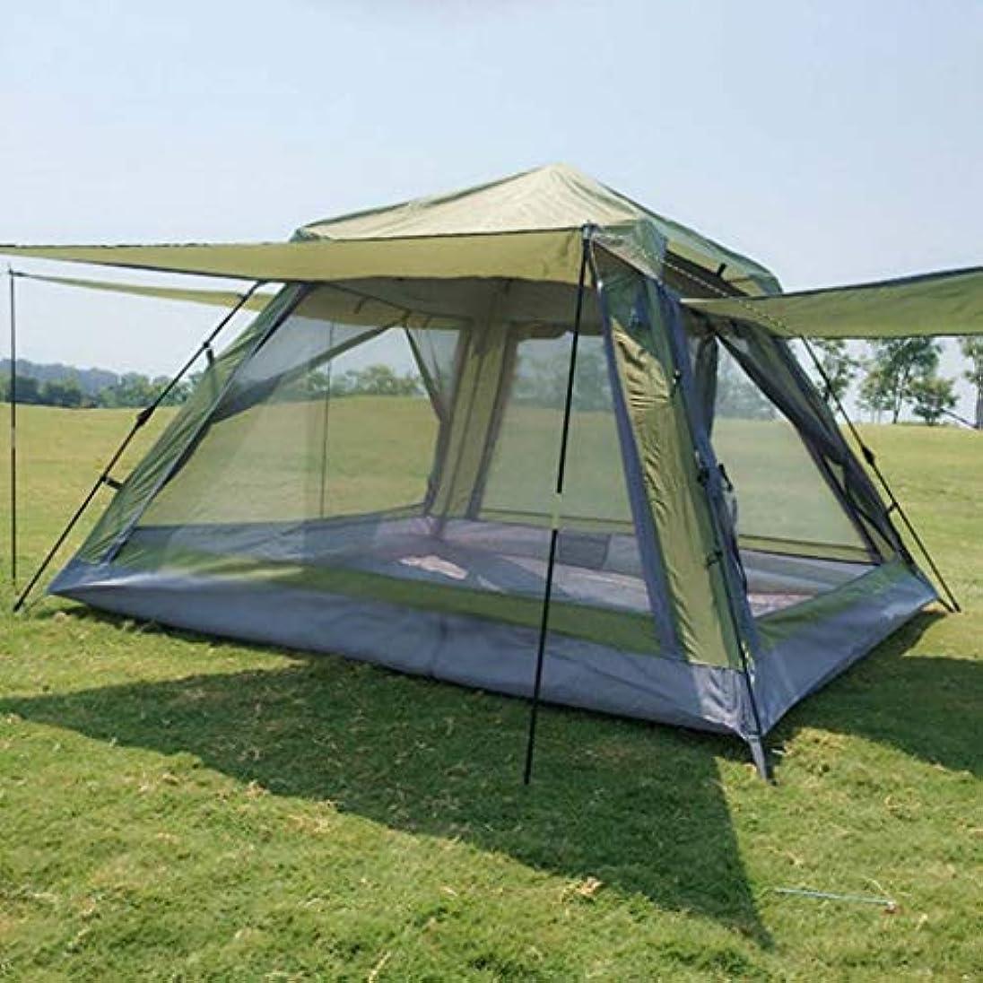 怖がって死ぬセクタ混合テント 3-4人自動的にポップアップ防水キャンプテントテント防水大家族テントライトポータブルベルト
