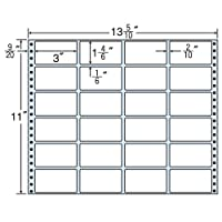 東洋印刷 タックフォームラベル 13 5/10インチ ×11インチ 24面付(1ケース500折) MT13L