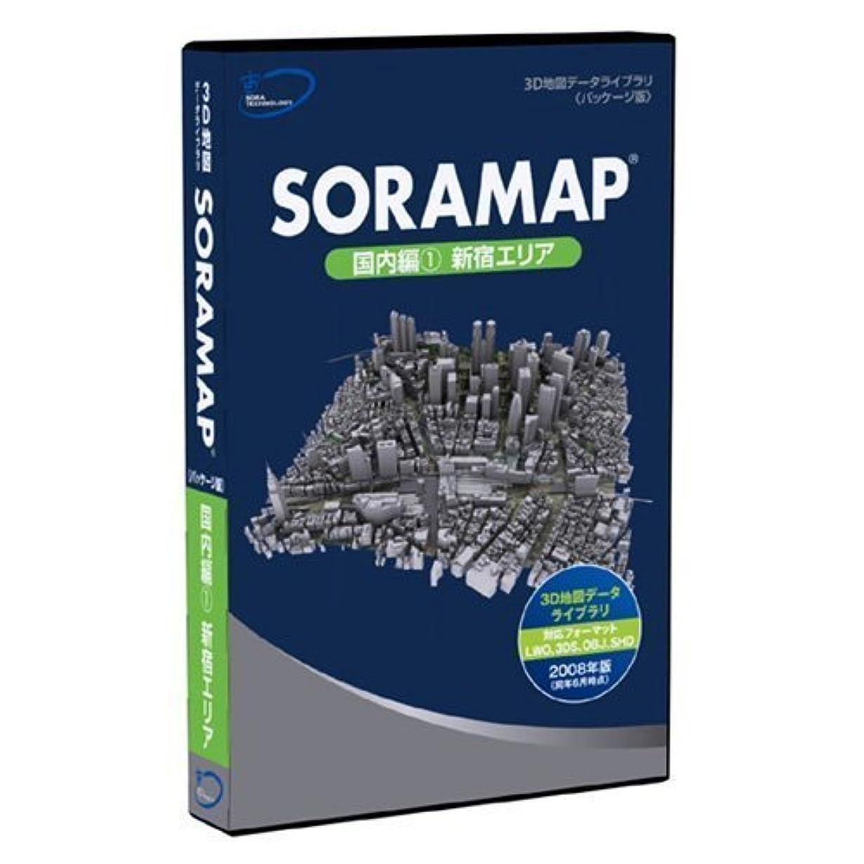 かる小康急いで3D地図(3D都市)データライブラリ[パッケージ版] SORAMAP 国内編(1) 新宿エリア