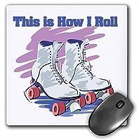 3drose 8x 8x 0.25インチマウスパッド、このはHow I Rollローラースケートデザイン( MP _ 102557_ 1)