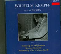 Chopin:Kempff Plays Vol 1