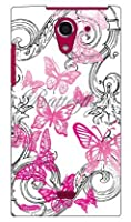 SECOND SKIN 池田ハル 「Butterfly」 ピンク / for AQUOS CRYSTAL Y 402SH/Y!mobile  YSH402-ABWH-193-K562