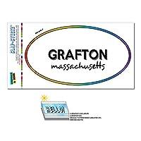 グラフトン, MA - マサチューセッツ州 - 虹 - 都市国家 - 楕円形 Laminated ステッカー