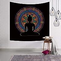 カラフルな象柄タペストリー動物シリーズコットンリネンスクエア装飾毛布リビングルームの寝室の寮の装飾テーブルクロスピクニック布ヨガマット (Color : I, Size : 80 x 60 inches)
