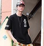(リアルビーボイス) REALBVOICE 大きいサイズ WATER WARRIOR WING半袖Tシャツ 6L ブラック