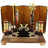 ちりめん 兜飾り 端午お飾りセット(兜) ちりめんミニちまき特典付オリジナル五月人形 ミニ 五月人形 兜 幅38cm リュウコドウ