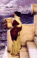 手描き-キャンバスの油絵 - Hero 1898 ロマンチック Sir Lawrence Alma Tadema 芸術 作品 洋画 ウォールアートデコレーション -サイズ09