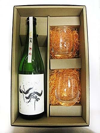 【ギフトセット】【要冷蔵】日本酒 仙禽 無垢 720ml &SAKEグラス 2個 箱入りセット