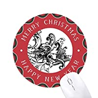 バロック美術の装飾の現代のパターン 円形滑りゴムのクリスマスマウスパッド