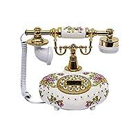 電話/セラミックアンティーク電話/ホームオフィス固定固定電話/2色 (色 : B)