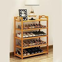 廊下のバスルームのリビングルーム(マルチサイズ)のための5層の自然な竹の木製のシンプルな靴の棚棚のホルダーストレージオーガナイザ (サイズ さいず : 68 * 26 * 88CM)