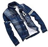 (イノセンティア) Innocentia デニムジャケット デニム メンズ デニムジャケット Gジャン ジージャン ブルゾン アウター 上着 カジュアル シンプル 秋 冬 ブルー 6サイズ (3XL, ブルー)