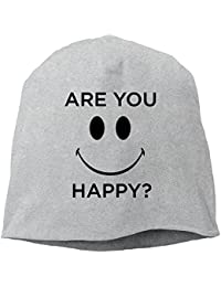 Aries ニットキャップ ニット帽 ワッチキャップ 帽子 男女兼用 ハッピー 笑顔 アメカジ ファッション Are You Happy?