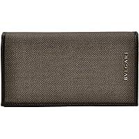 (ブルガリ) BVLGARI 財布 メンズ 二つ折り長財布 グレー PVC レザー 32582 ブランド アウトレット 並行輸入品