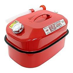 メルテック ガソリン携行缶 20L 消防法適合品 KHK [亜鉛メッキ鋼鈑] 鋼鈑厚み:0.8㎜ 積重ねタイプ Meltec FZ-20