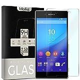 Molig Sony Xperia Z4 強化ガラスフィルム 5.2インチ SO-03G/SOV31/402SO 対応 気泡ゼロ HD 飛散防止 指紋防止 撥油性 疎水性