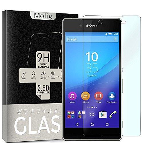 Molig Sony Xperia Z5 強化ガラスフィルム 5.2インチ SO-01H/SOV32/501SO 対応 気泡ゼロ HD 飛散防止 指紋防止 撥油性 疎水性