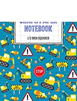 """Graph Paper Notebook 1/2 Inch Squares: Digger Themed 0.50"""" Square Quad Ruled, 120 Pages, 8.5"""" x 11"""" Non-perforated Graphing Notebook (8.5"""" x 11"""" Graph Paper Notebooks with 1/2 Inch Squares)"""