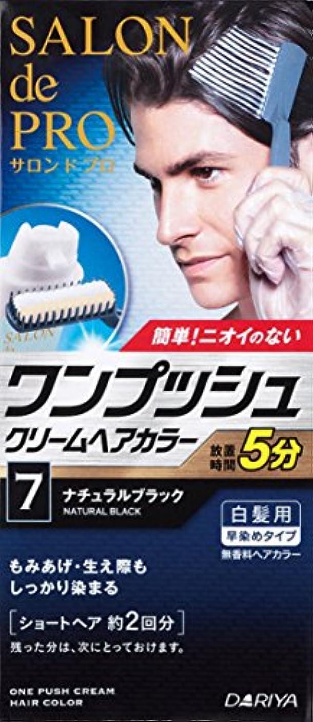 サージ努力保存するサロンドプロ ワンプッシュクリームヘアカラーメンズスピーディ 7 ナチュラルブラック 40g+40g