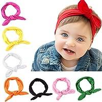 cokate 8pcsベビーヘッドバンド幼児用ゴムウサギ耳デザインヘアバンドHeadwear