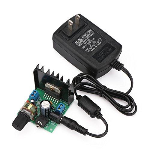 DROKマイクロ・ステレオ・アンプ・ボード6V~18V電源を増幅するデジタル・アンプ・モジュール電気的なポータブルアンプ・デュアル・チャンネル15W + 15W