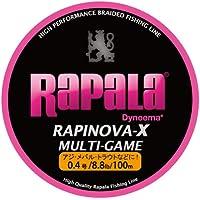 ラパラ(Rapala) PEライン ラピノヴァX マルチゲーム 100m 0.4号 8.8lb 4本 ピンク RLX100M04PK
