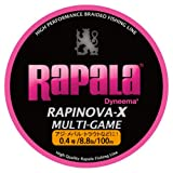 Rapala(ラパラ) ライン ラピノヴァX マルチゲーム ピンク 100m 0.4号