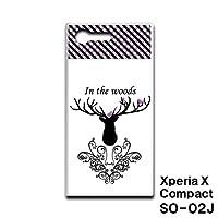 Xperia X Compact SO-02J スマホケース カバー 鹿 RB-522C
