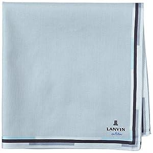 (ランバンオンブルー)LANVIN en Bleu ランバンオンブルー 先染めハンカチーフ(形態安定加工) 17501002 C ピーコックグリーン 48