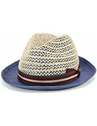 ストローハット 春夏 tesi イタリア ファッション 帽子 ペーパーハット メンズ テシ 帽子 ブランド/ブルー