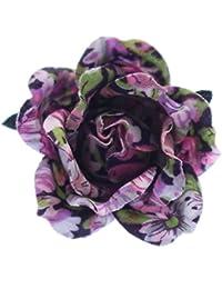全8色プリント柄 花 バラ 薔薇 ローズのミニコサージュ ラペルピン ピンブローチ ピンズ