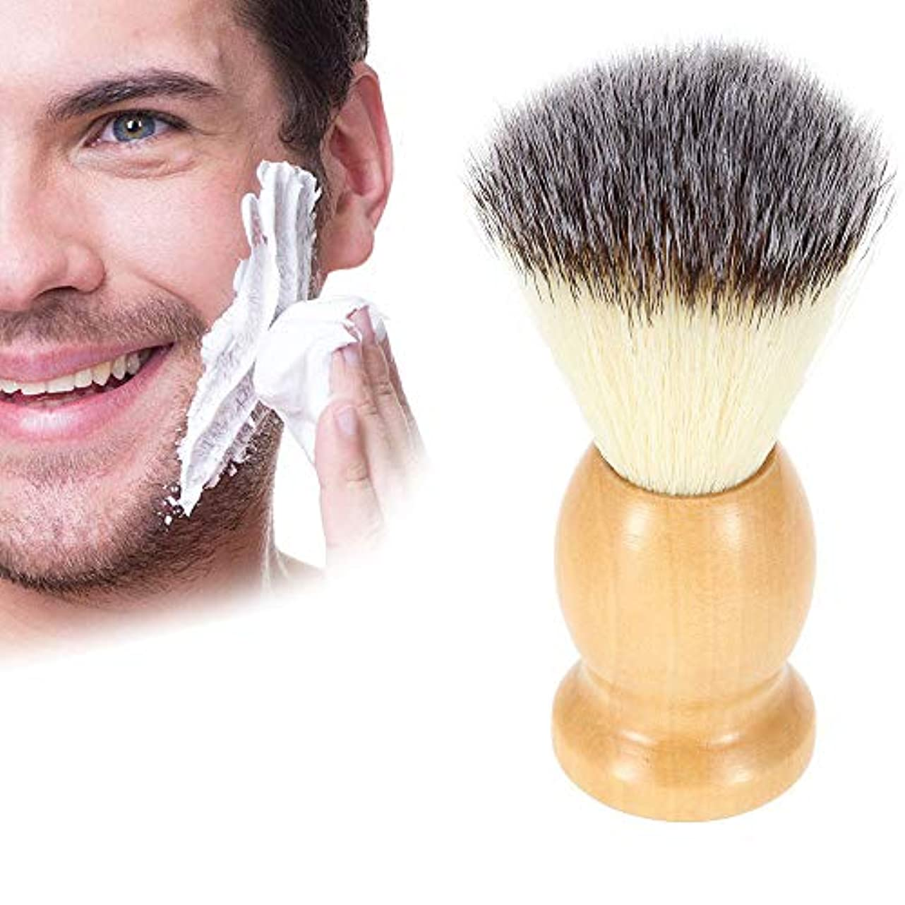 予約甥前方へButokal ナイロンひげブラシ メンズ用ブラシ 木製ハンドルシェービングブラシ 泡立ち ひげブラシ 理容 洗顔 髭剃り ご主人 ボーイフレンド 友人 にプレゼント シェービング用アクセサリー