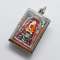 プラクルアン 仏像 僧侶 ステンレスケース チャーム お守り タイのお守り ペンダント ハート アクセサリー