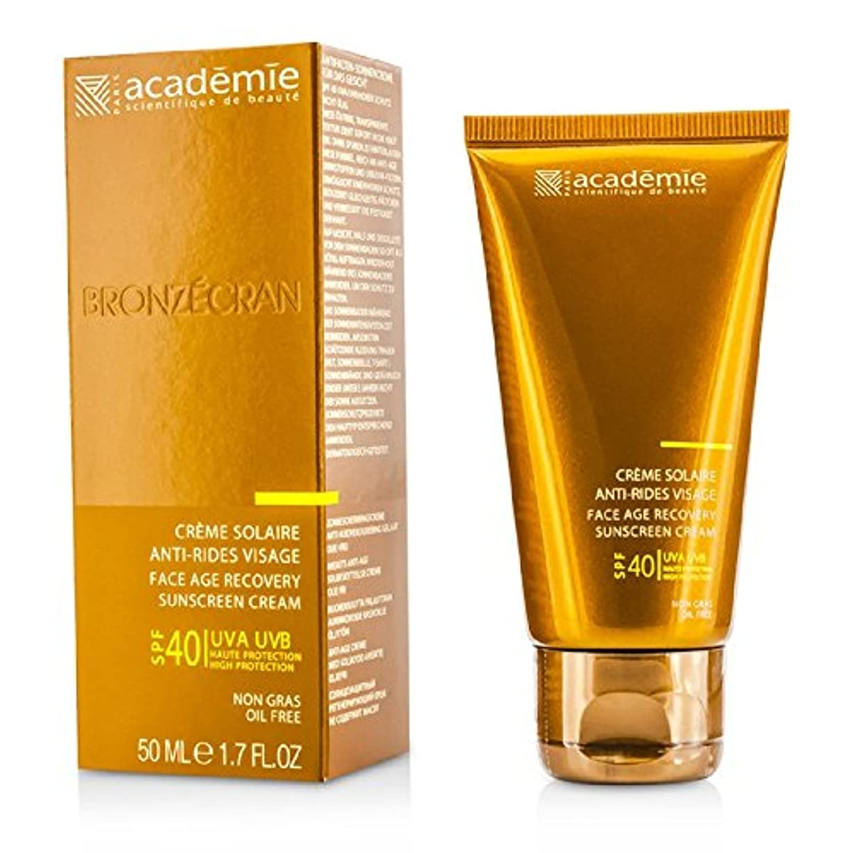 ゴミ規範カートアカデミー Scientific System Face Age Recovery Sunscreen Cream SPF40 50ml/1.7oz並行輸入品