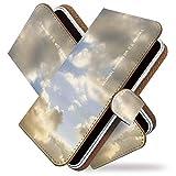 AQUOS R2 compact SH-M09 ケース 手帳型 空 雲 雨雲 青空 手帳 カバー アクオスアール2 アクオスR2 コンパクト 手帳型ケース 手帳型カバー スカイ [空 雲 雨雲/t0738]