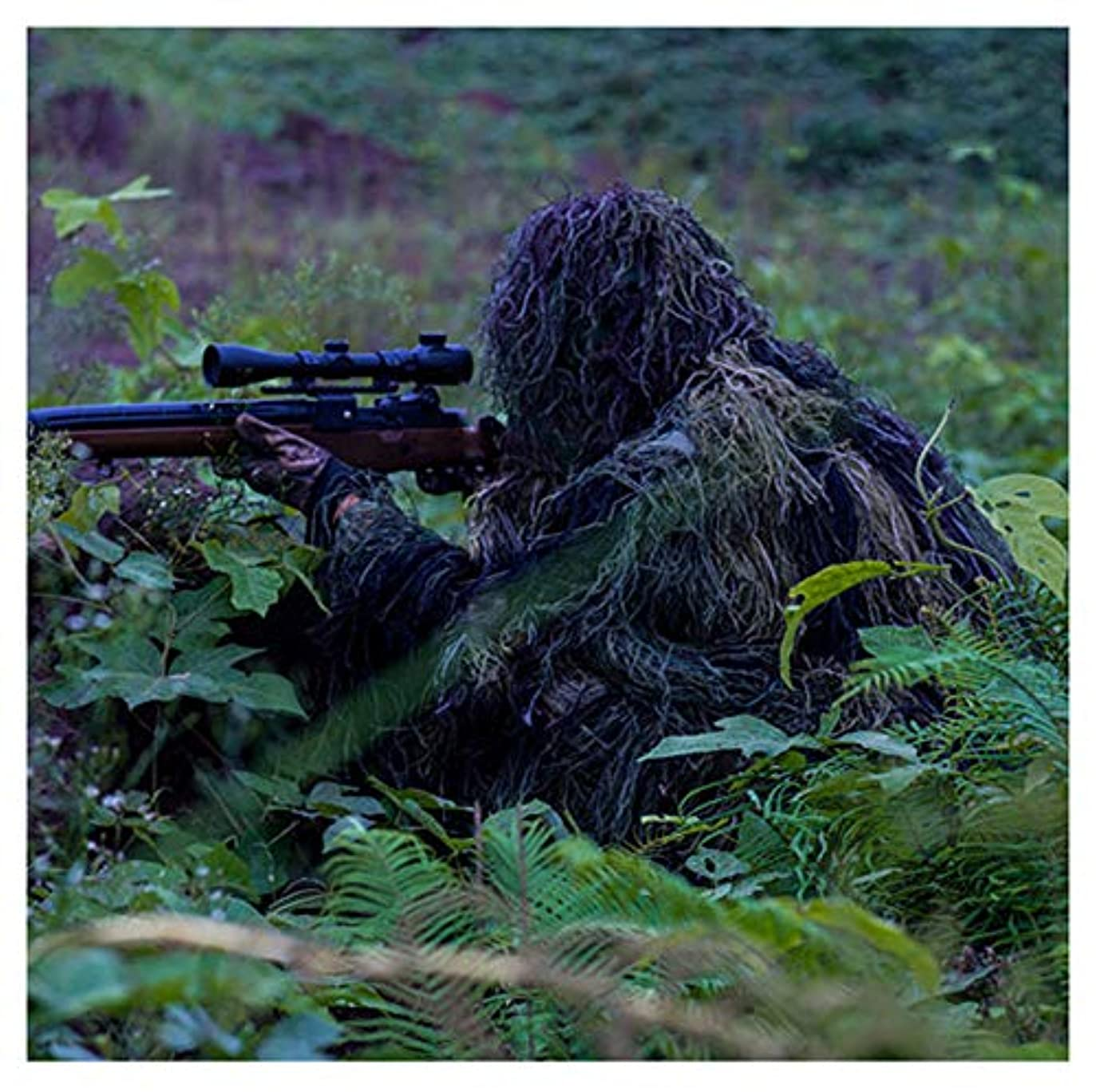 官僚幼児分析的カモフラージュカモ岬、3Dスーツ、狙撃兵士に適して軍事軍事撮影ハンティングエアガン写真、ジャングルカラー