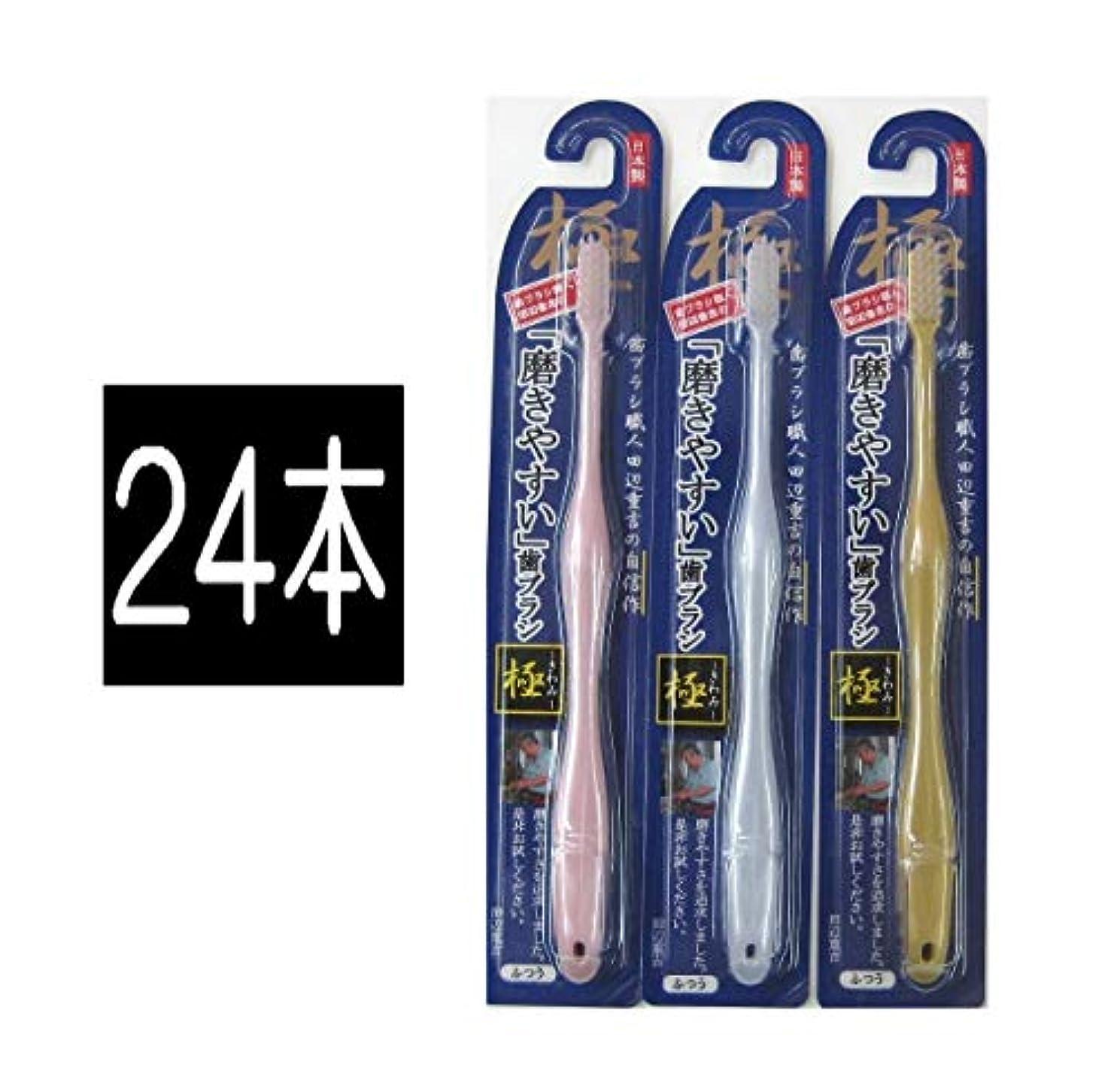 シアーねばねばメイト歯ブラシ職人 田辺重吉の磨きやすい歯ブラシ 極 LT-09 (24本)
