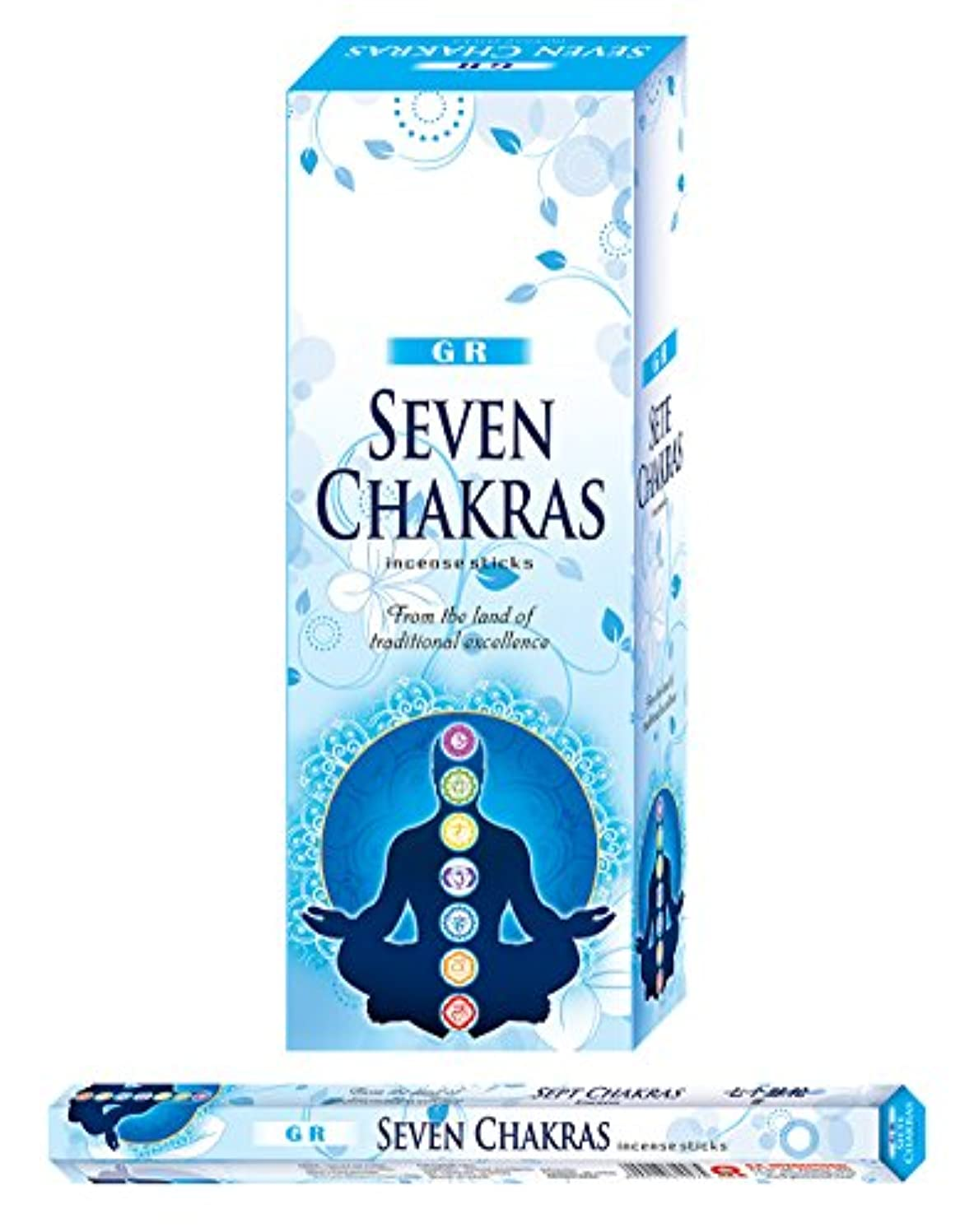 戻す下手火炎Seven Chakras incense-120 Sticks