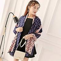 QingYun Trade スカーフレディース春と秋の冬の厚いエアコン付きショールデュアルユースコート (Color : 9, サイズ : 70.8×27.55inch)