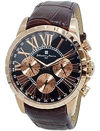 サルバトーレマーラ Salvatore Marra マルチカレンダー レザーベルト 腕時計 10気圧防水 時計拭き用クロス付き PGBK