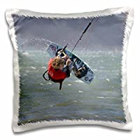 Danita Delimont–San Francisco–カリフォルニア、San Francisco Kiteboarding Competition–us05bja0225–ジェインズ・ギャラリー–枕ケース 16x16 inch Pillow Case pc_88205_1