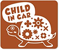 imoninn CHILD in car ステッカー 【マグネットタイプ】 No.53 カメさん (茶色)