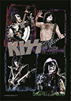 Kiss logo band shots MONSTER 新しい 公式 Textile ポスター 75cm x 110cm