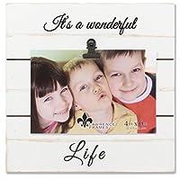 風化ローレンスフレーム4x 6ホワイトWoodlandsクリップ画像frame-wonderful Life