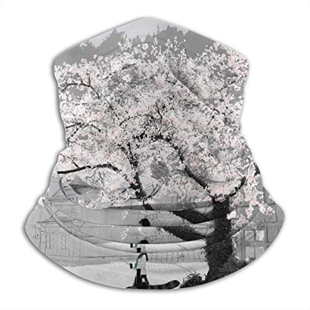 パラシュート克服する集める桜の花 ネック暖かいスカーフ サーマルネックスカーフ マイクロファイバーネックウォーマー ネックウォーマー マフラー 帽子 ヘッドバンド 秋冬 防寒 防風 キャップ 多機能 ネック ゲーター 男女兼用