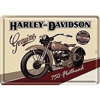 ハーレーダビッドソン Harley-Davidson Flathead/ポストカード はがき (ブリキ製)