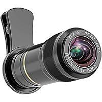 スマホ用カメラレンズ 12X望遠レンズ【完全アルミ製】、iPhoneXs Max/Xs/XR/X/8/8プラス/ 7/6 / Samsung S7 / S6 / S6 / LG/HUAWEI/Sonyとほとんどのスマートフォンに対応 携帯レンズ 望遠【12倍光学望遠レンズ 高画質】
